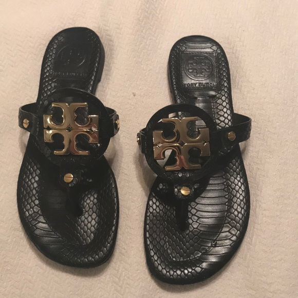 Tory Burch Shoes - Tory Burch gold and black sandal
